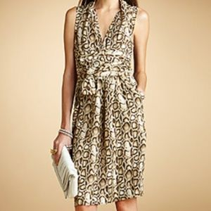 Rachel Roy Abstract Animal Python Print Dress